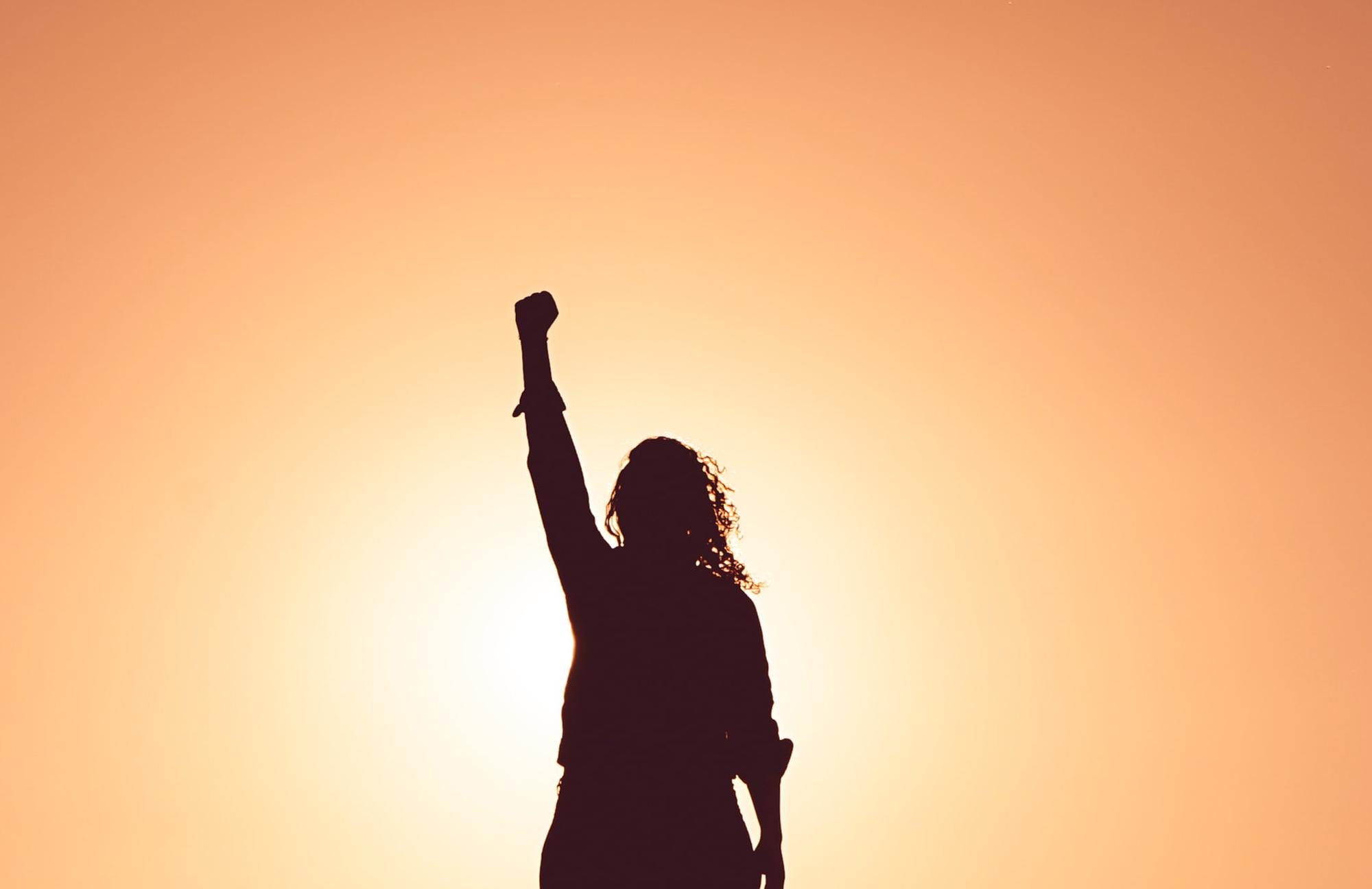 Bild: Person mit Power